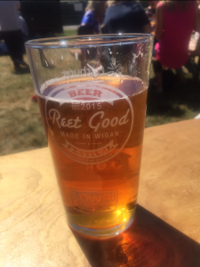 This is a pint of the Silver Tally from the Prospect Brewery at the Reet Good Beer Festival.